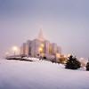 Calgary Temple Foggy morning