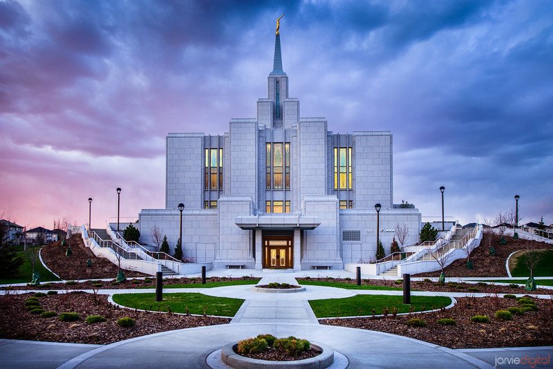 Calgary Temple Sunset (Side)