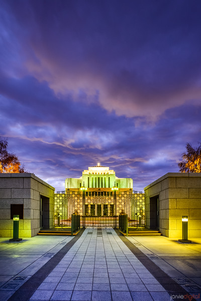 Cardston Temple - Sunrise Entrance