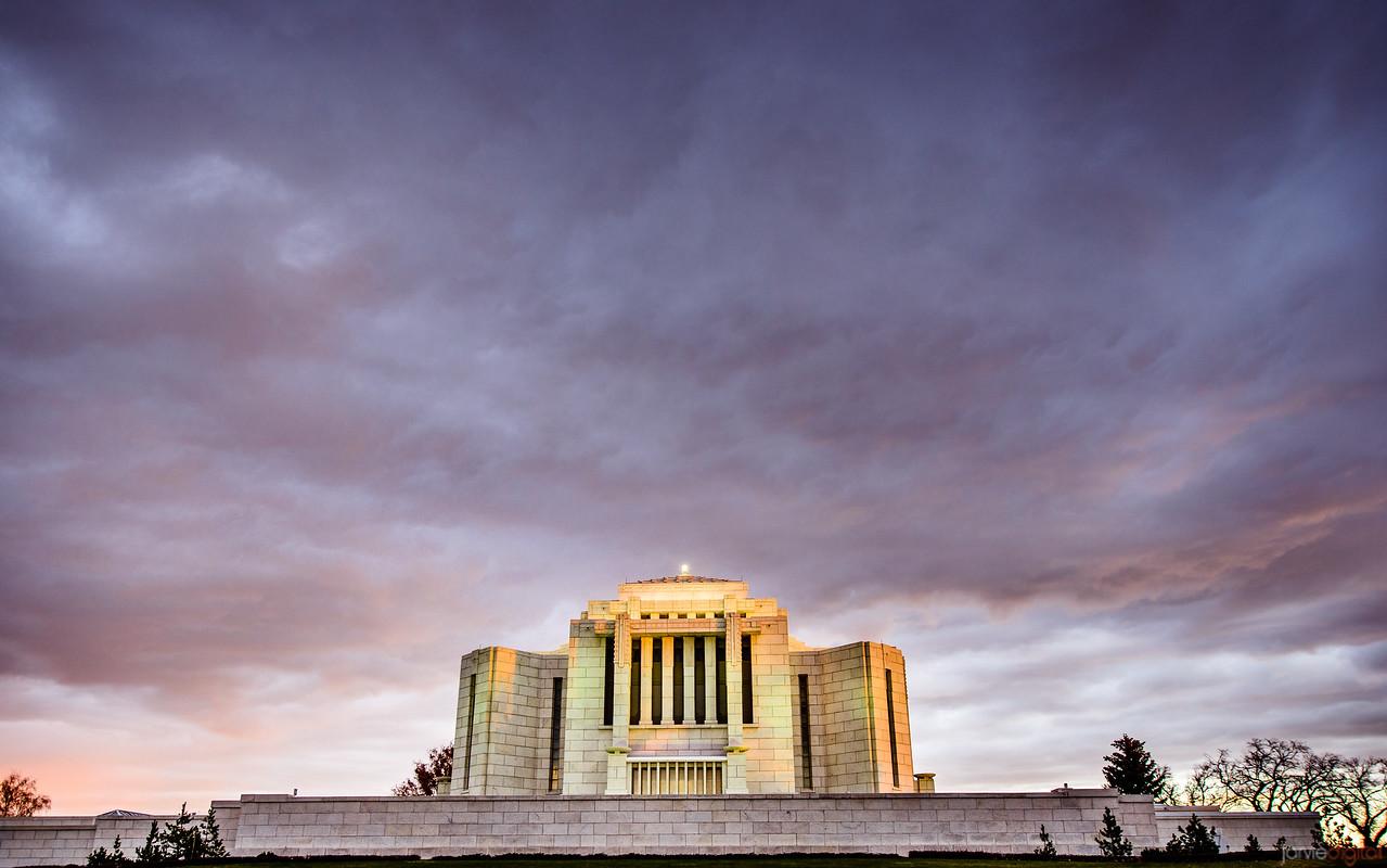 Cardston Temple - Sunset