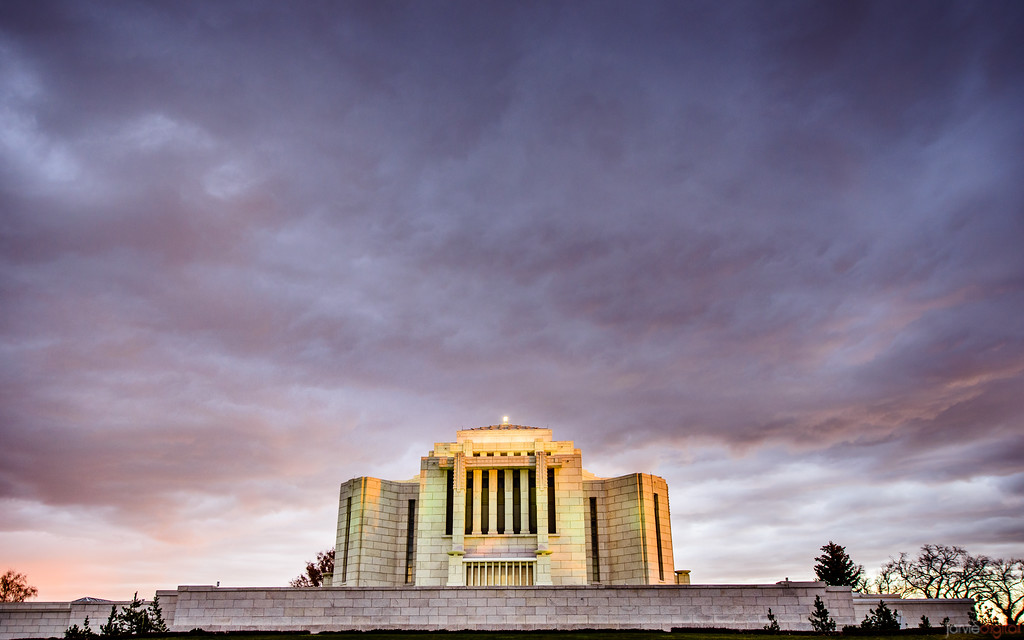 Cardston Temple - Sunset