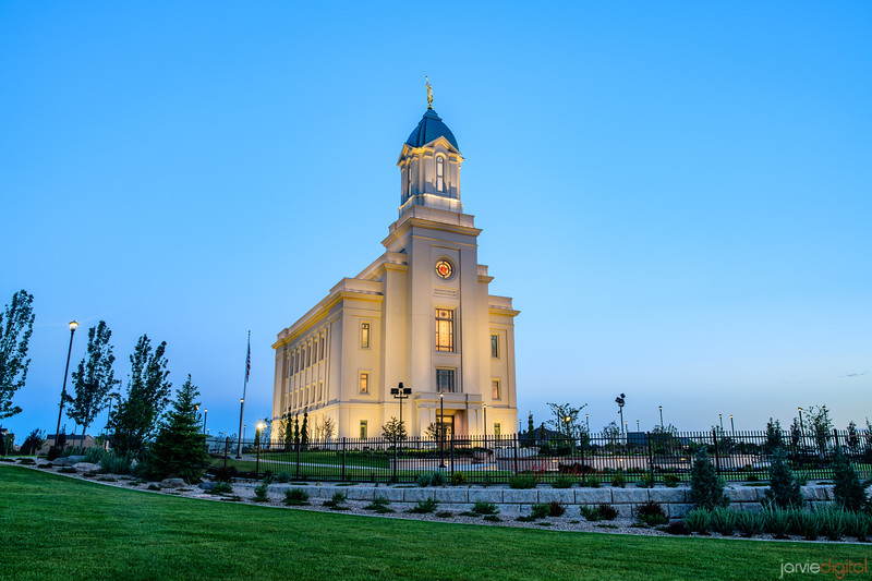 Cedar City LDS Temple - Morning Blue