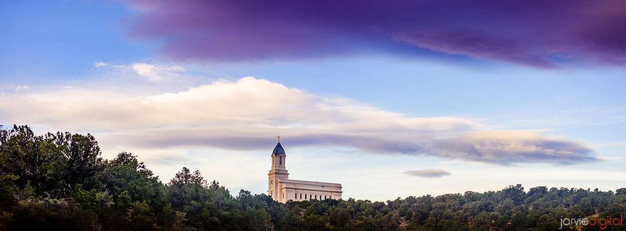 Cedar City Temple - above the trees