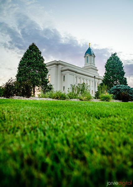Cedar City LDS Temple - Grass perspective