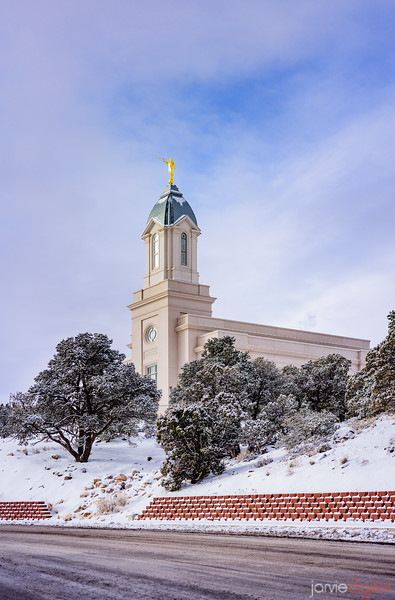 Cedar City Temple - Snowy morning