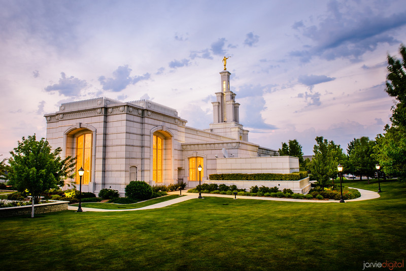 Columbia River Temple Sunset (From behind)