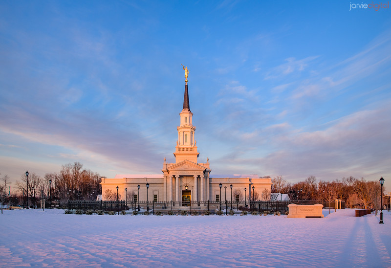Connecticut LDS Temple - first light