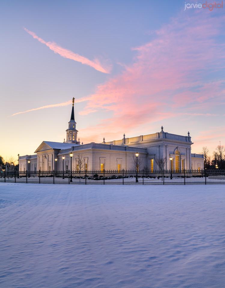 Connecticut LDS Temple - Back corner