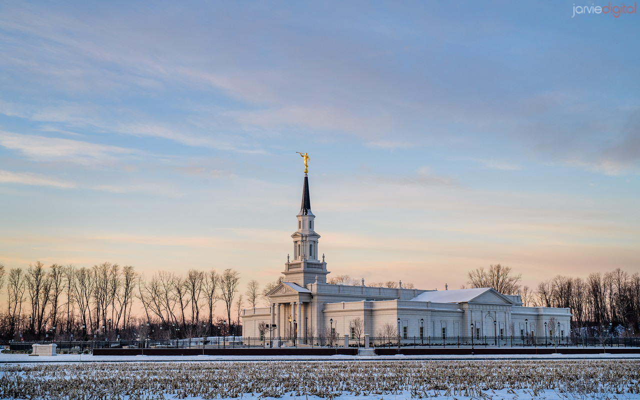 Connecticut LDS Temple - morning fields