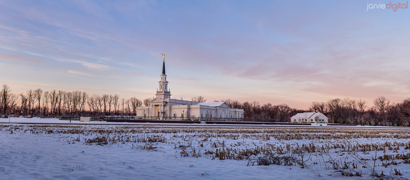 Connecticut LDS Temple - pano fields