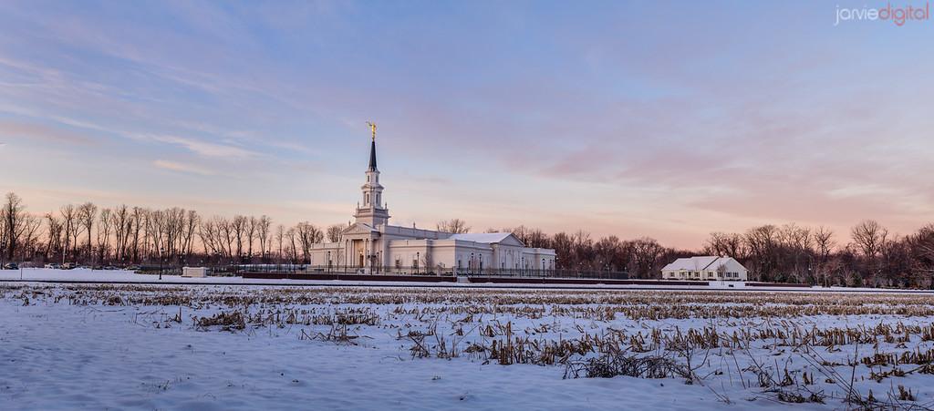 Connecticut LDS Temple - pano fields