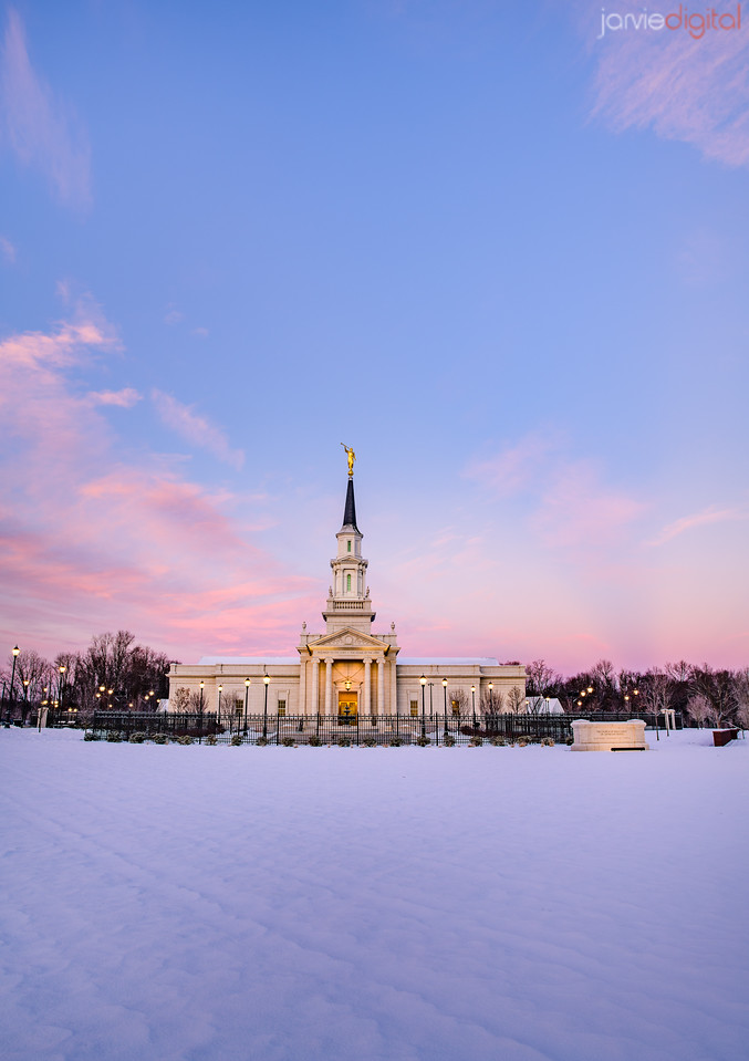 Connecticut LDS Temple - morning skies