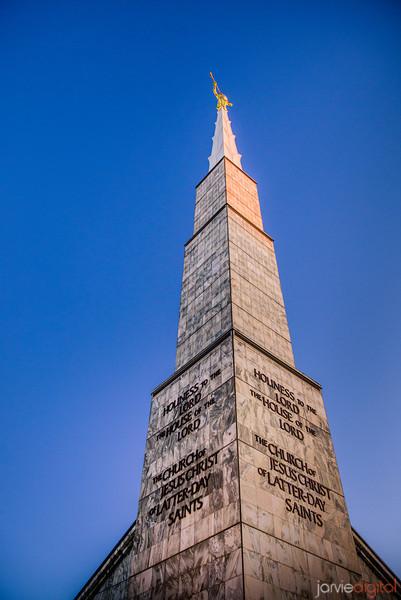 Dallas Temple Spire Color