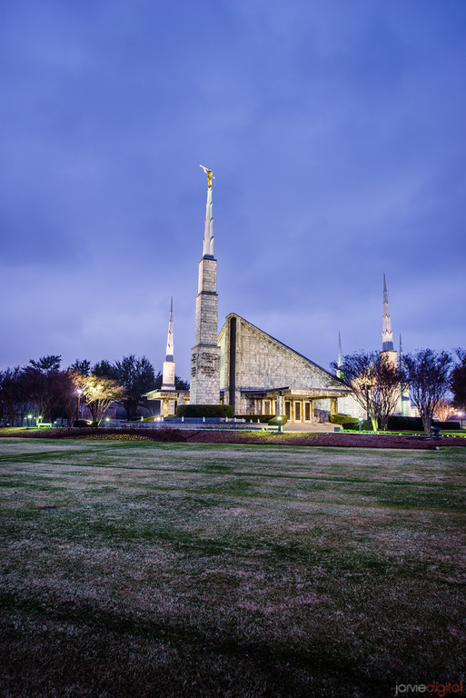 Dallas Temple Blue Clouds