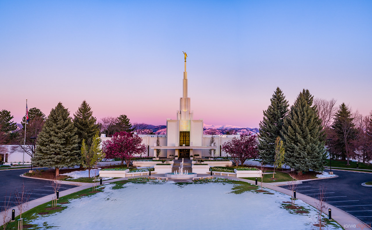 Denver LDS Temple - Spring Snow