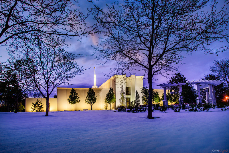 Denver Temple Spring Snow storm