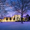 Denver Temple Spring Snow storm