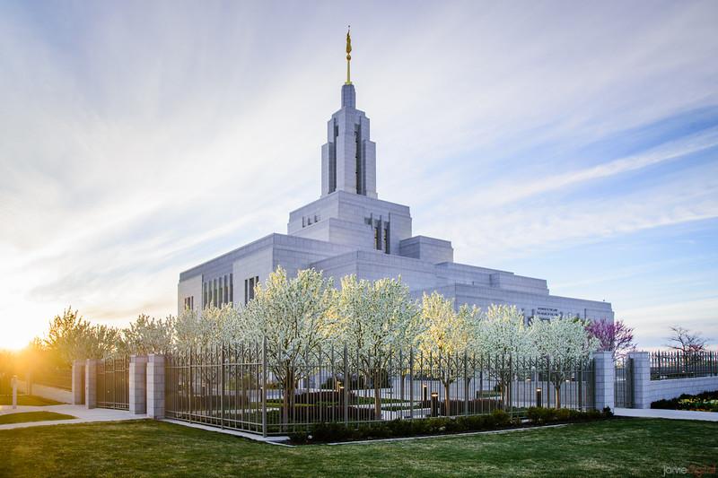 Spring at Draper Temple