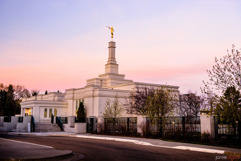 Edmonton Temple Sunset (Corner)