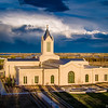 Fort Collins Temple - Sunshine and Storm clouds