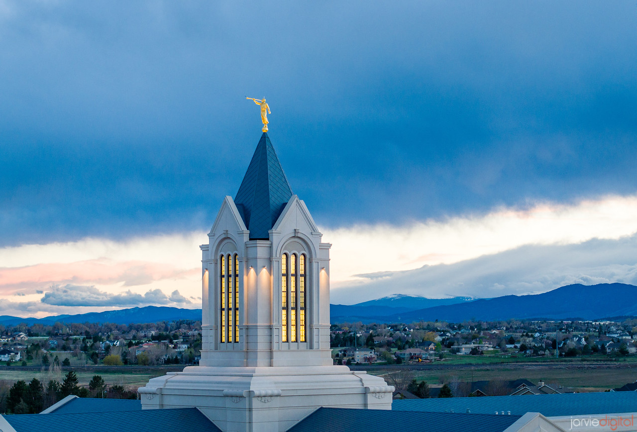 Fort Collins Temple - The top