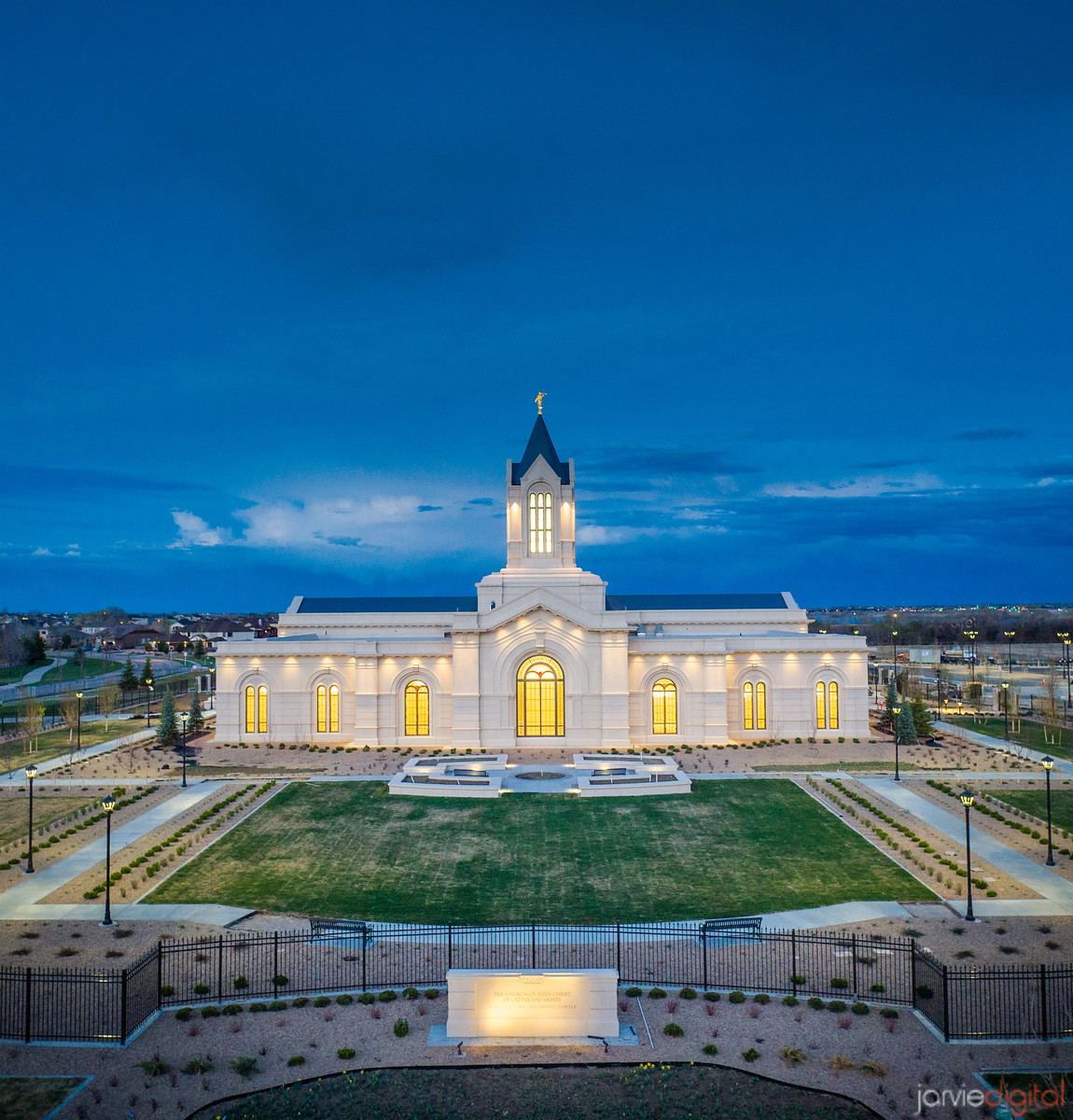 Fort Collins Temple - Twilight blue