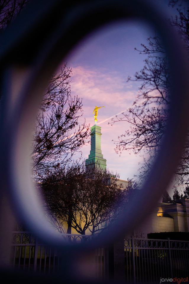 Fresno Temple Through Gate