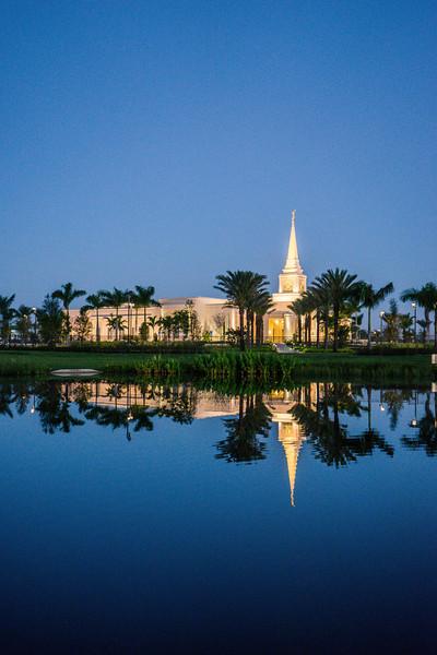 Ft Lauderdale Temple Vertical Reflection