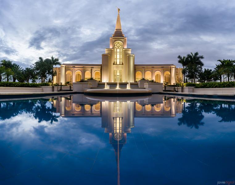 Ft Lauderdale Temple - Blue Reflections