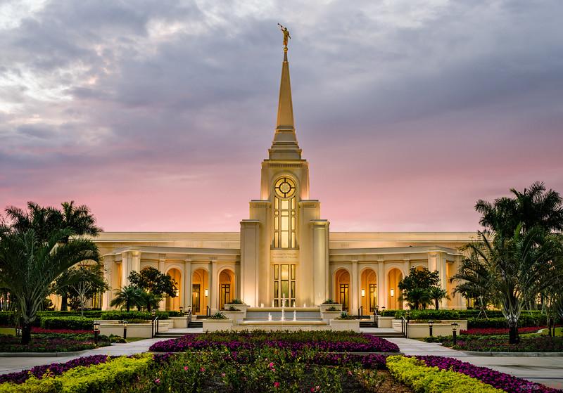Ft Lauderdale Temple Red Skies