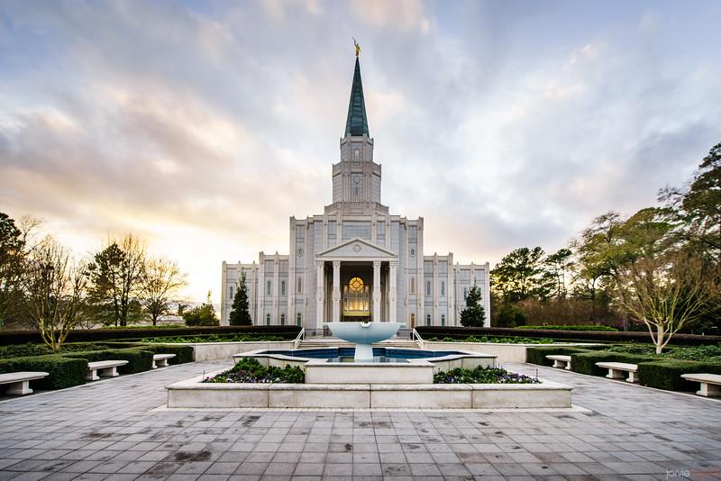 Houston Temple Fountain