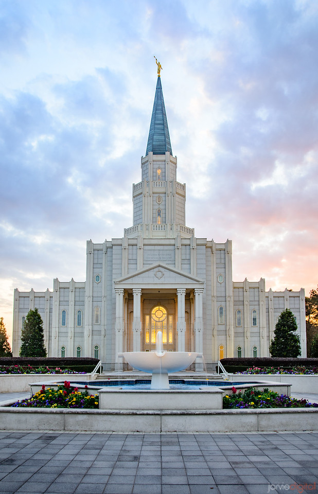 Houston Temple - Red and Blue