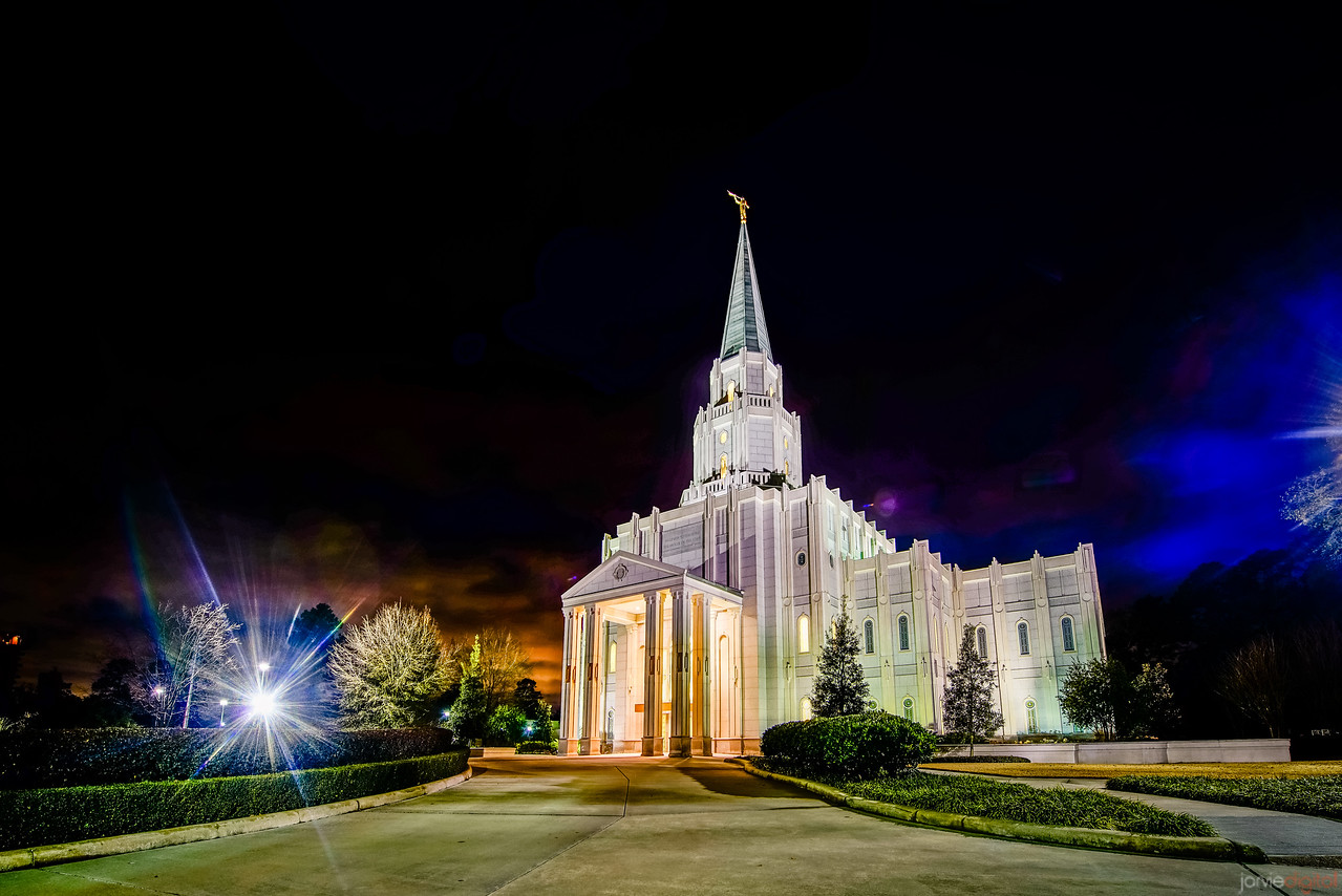 Houston Temple night