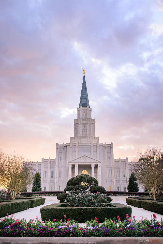 Houston Temple - Soft Sunset