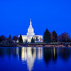 Idaho Falls Temple Blue Twilight