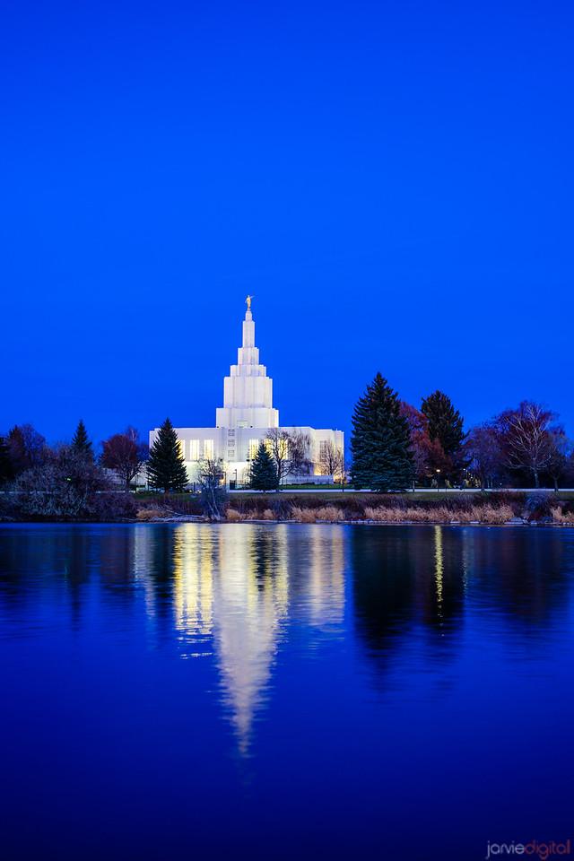 Idaho Falls Temple Blue Twilight