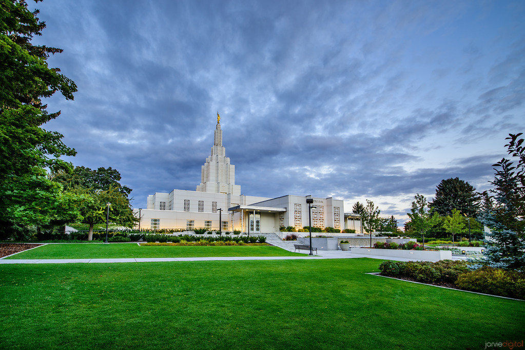 Idaho Falls Temple - blue and green