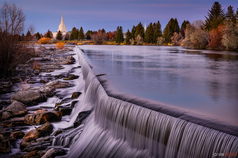 Idaho Falls Temple Waterfalls
