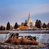 Idaho Falls Temple waterfalls (Vertical)