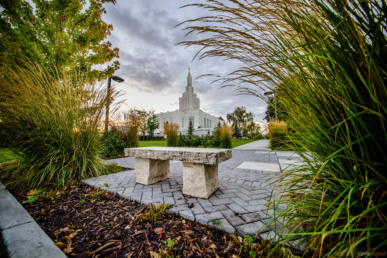 Idaho Falls Temple - a place to rest