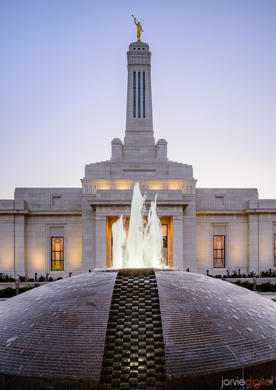 Indianapolis LDS Temple - A fountain to the Lord