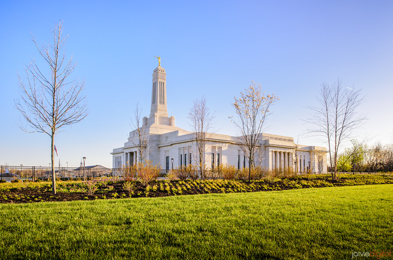 Indianapolis LDS Temple - Blue Skies