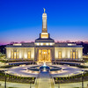Indianapolis LDS Temple - Evening Entrance