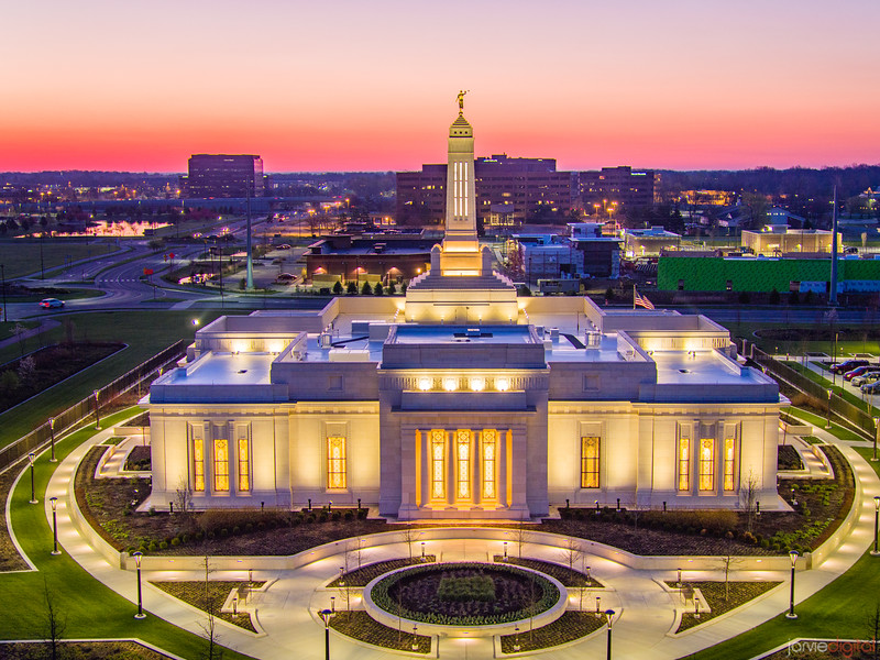 Indianapolis LDS Temple - Above the city