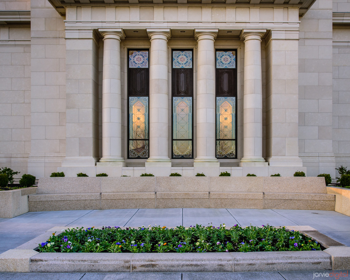 Indianapolis LDS Temple - Windows to the temple
