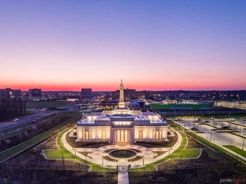 Indianapolis Temple - To the sunrise