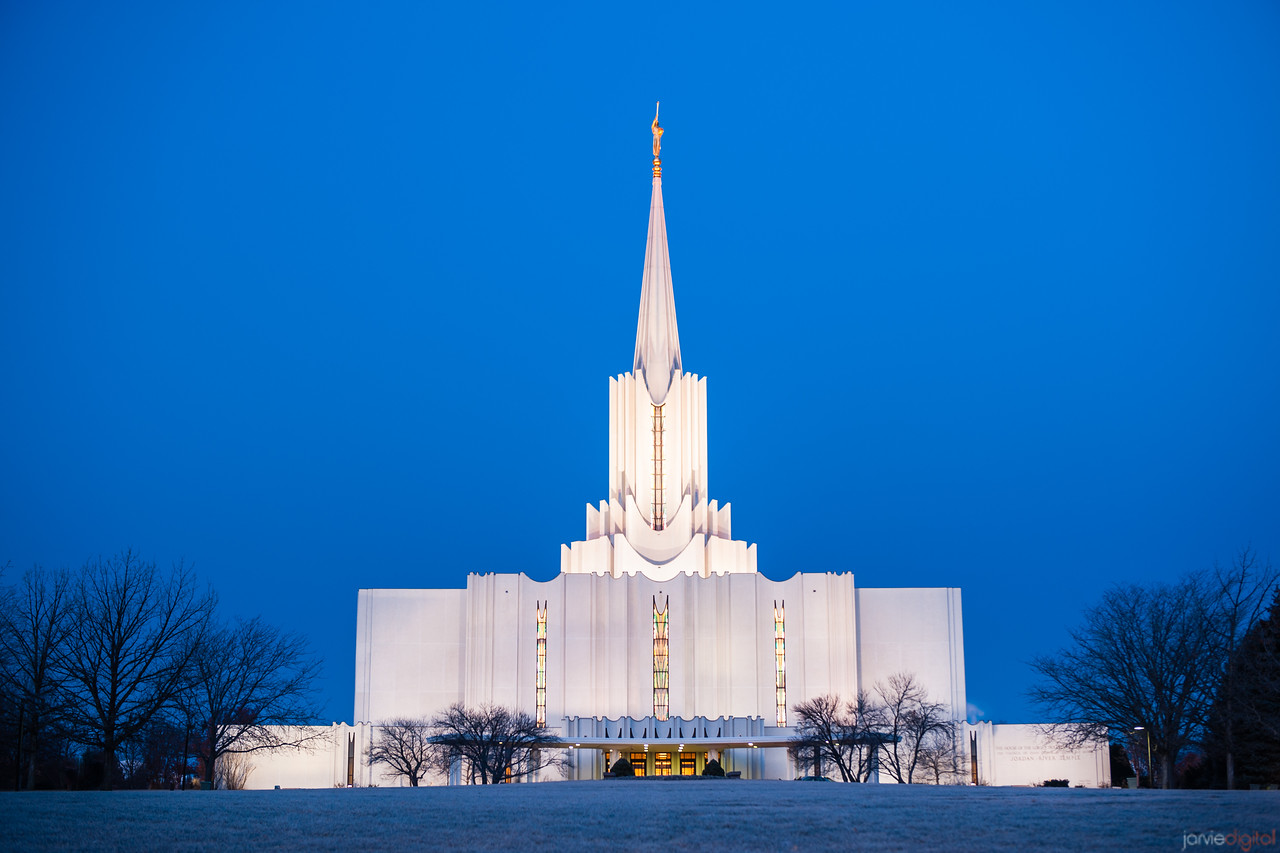 Jordan River Temple Winter Morning