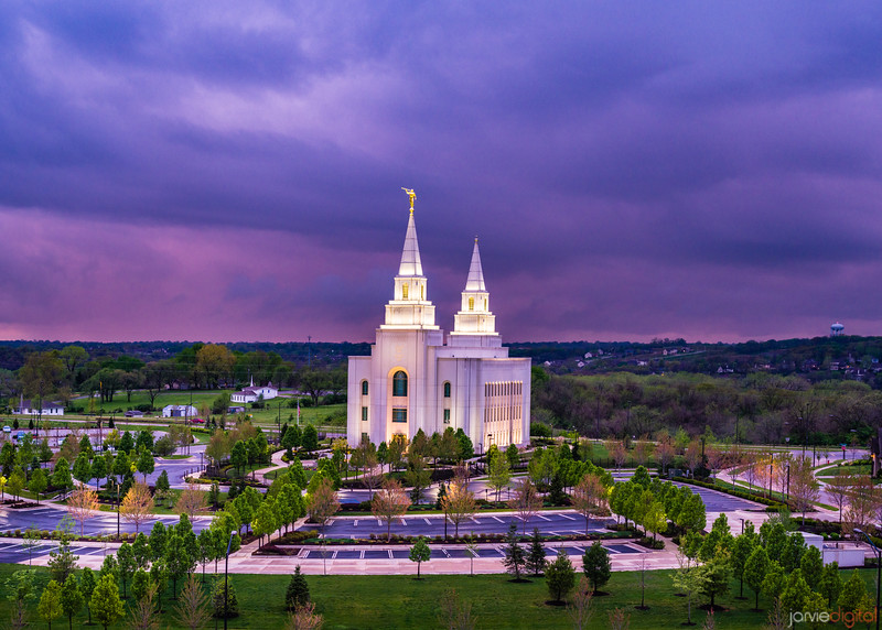 Kansas City Temple - Purple Skies