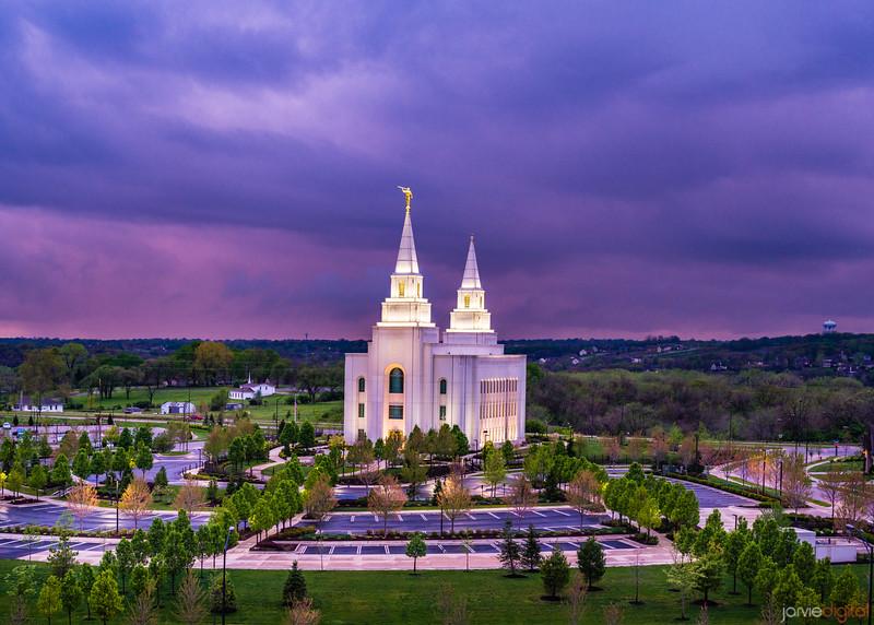 Kansas City Temple - Purple Skies