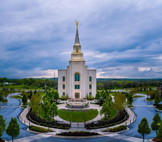 Kansas City Temple - Blue Above